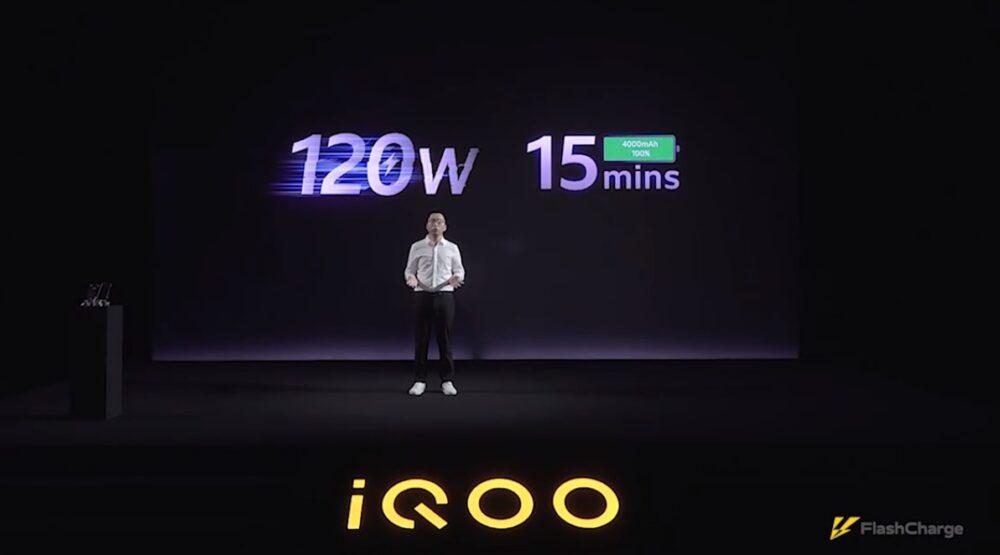 IQOO presenta su carga ultra rápida de 120W