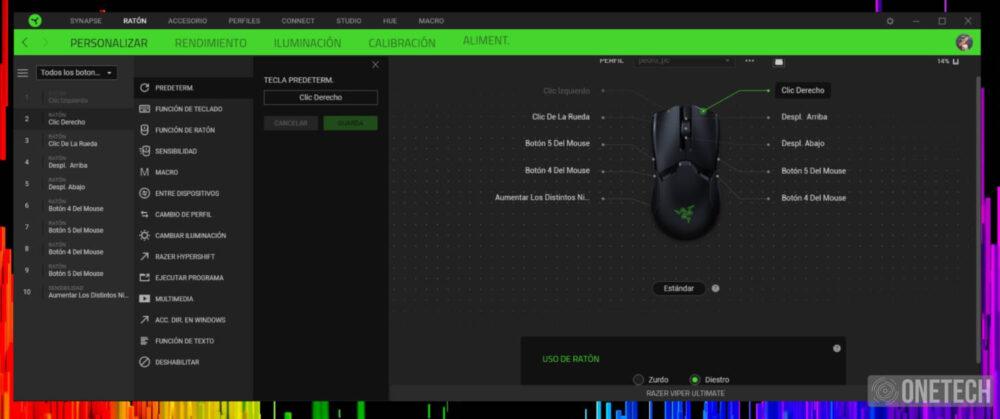Razer Viper Ultimate, un verdadero ratón gamer ambidiestro - Análisis 11