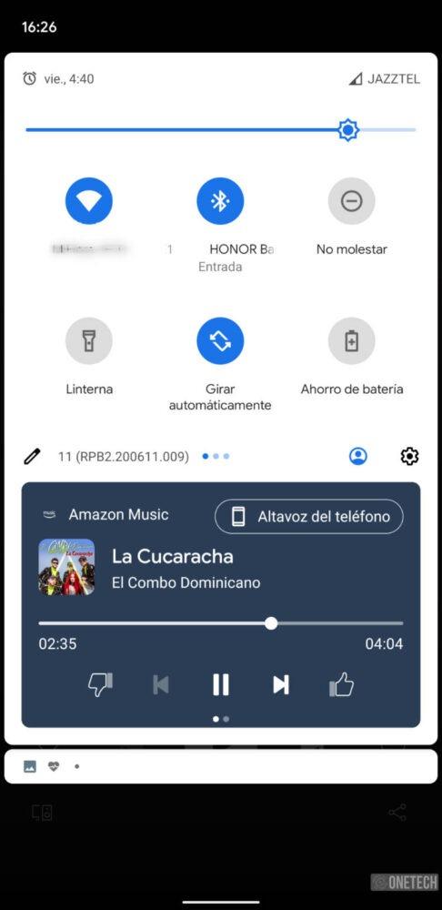 Android 11 Beta 2 rediseña sus nuevas tarjetas de reproducción 3