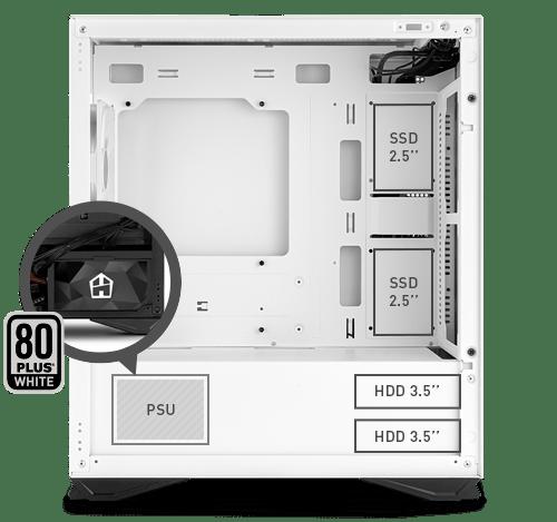 Hummer Zero Core, el chasis minimalista de NOX con fuente de alimentación de 450 W 1