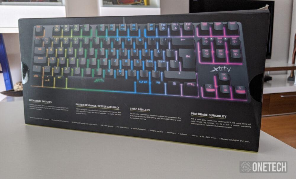 Xtrfy K4 RGB TKL, probamos el teclado gamer compacto sueco 2