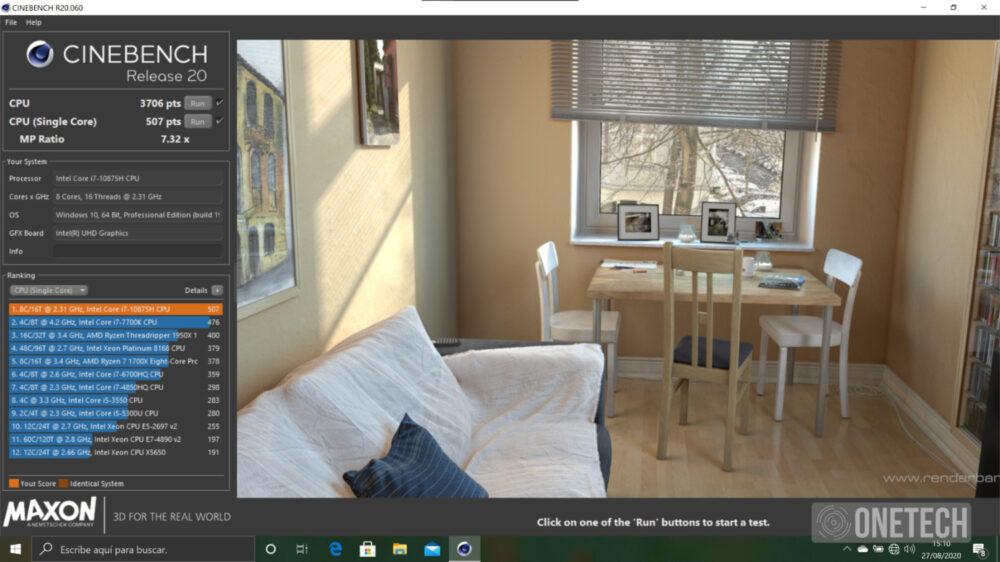 Gigabyte Aero 15 OLED XB potencia pura con Microsoft Azure - Análisis 9