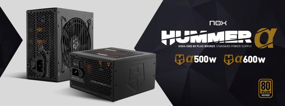 Nox lanza sus nuevas fuentes de alimentación Hummer Alpha 500 W y Alpha 600 W con certificado 80+ Bronze 1