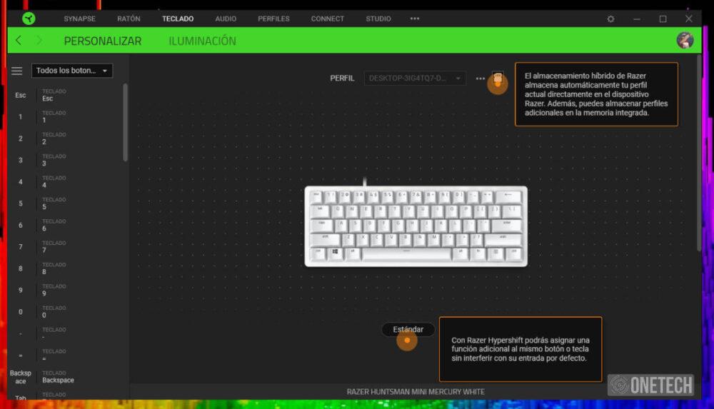 Razer Huntsman Mini, probamos este teclado 60% con switches ópticos lineales 7