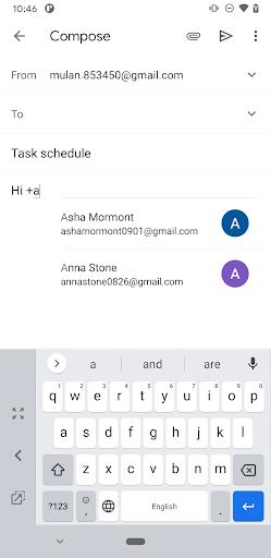 Gmail ya permite en Android añadir un destinatario con solo mencionarlo en el texto 1