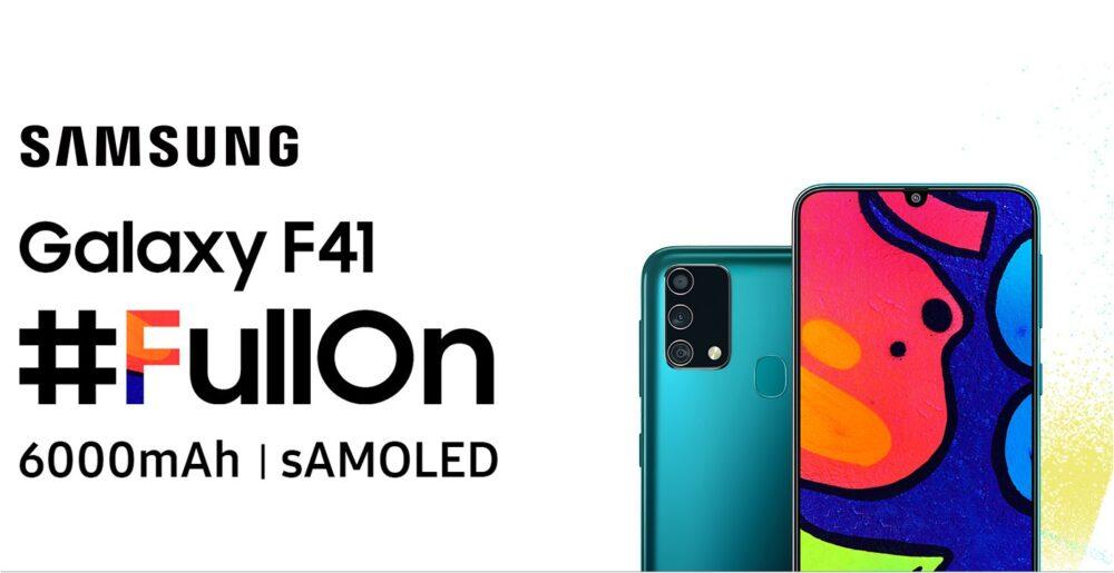 Samsung Galaxy F41, 6.000 mAh que inauguran una nueva serie