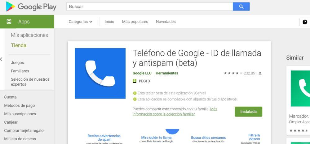 """La aplicación """"Teléfono"""" ahora es """"Teléfono de Google - ID de llamada y antispam"""""""