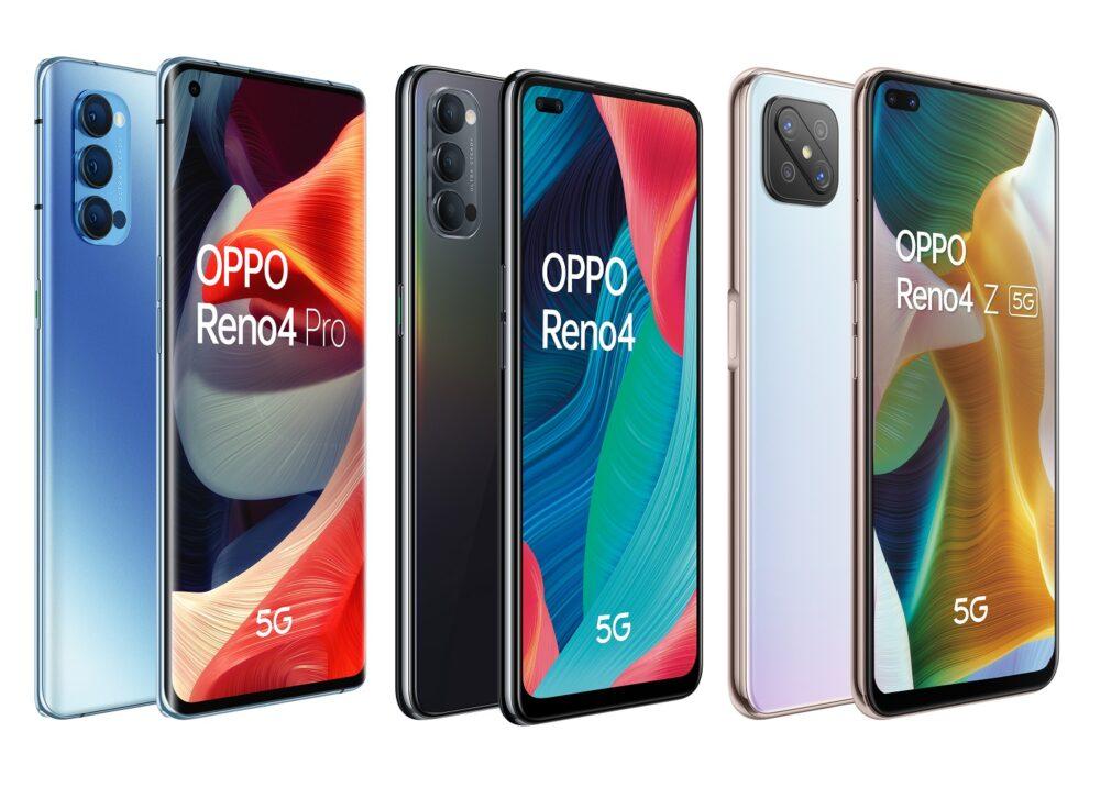 OPPO lanza su serie Reno4, tres nuevos modelos con 5G