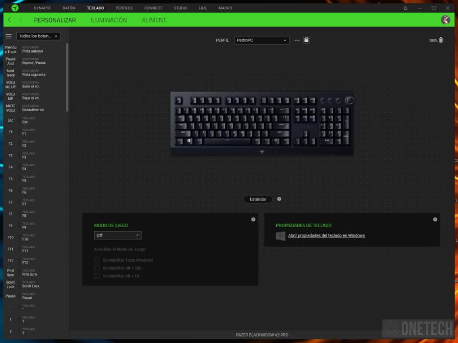 Razer Blackwidow V3 Pro, un teclado inalámbrico de alto rendimiento - Análisis 4