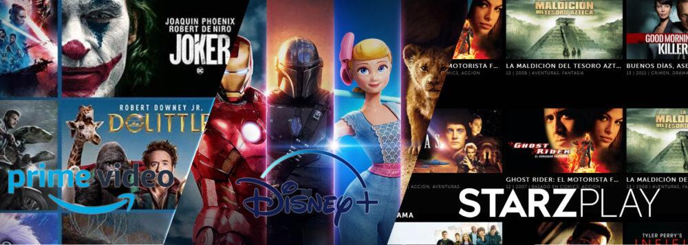 Amazon Prime Video, Disney Plus y Starzplay