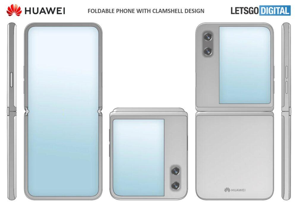 Huawei patenta un móvil plegable tipo concha con una gran pantalla exterior 1