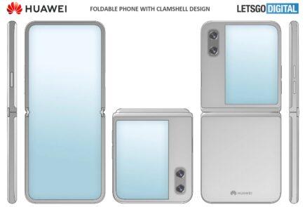 Huawei patenta un móvil plegable tipo concha con una gran pantalla exterior 6