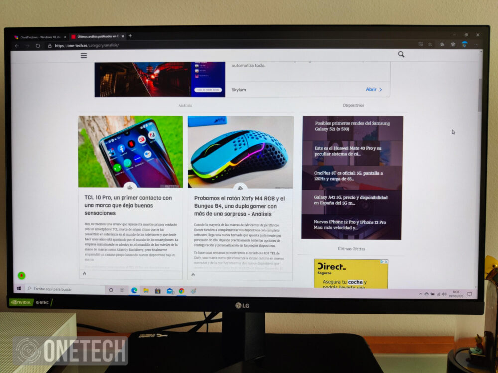 Probamos el LG 27GN850, un monitor gamer Nano IPS QHD con 144Hz y un tiempo de respuesta de 1ms 17