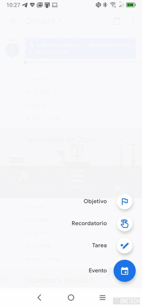 Calendario de Google ya permite añadir Tareas desde el móvil 2