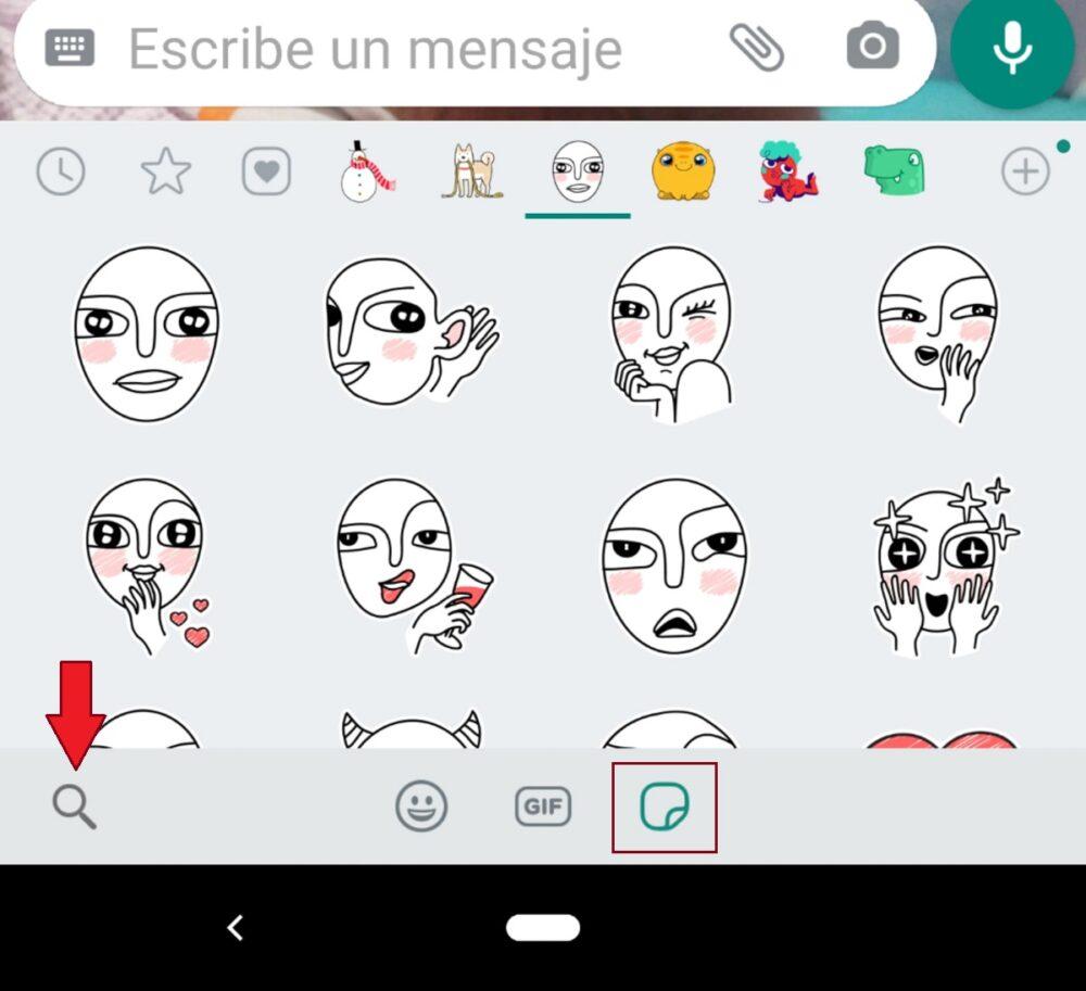 Buscador en WhatsApp beta
