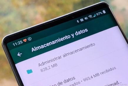 Administrar almacenamiento WhatsApp