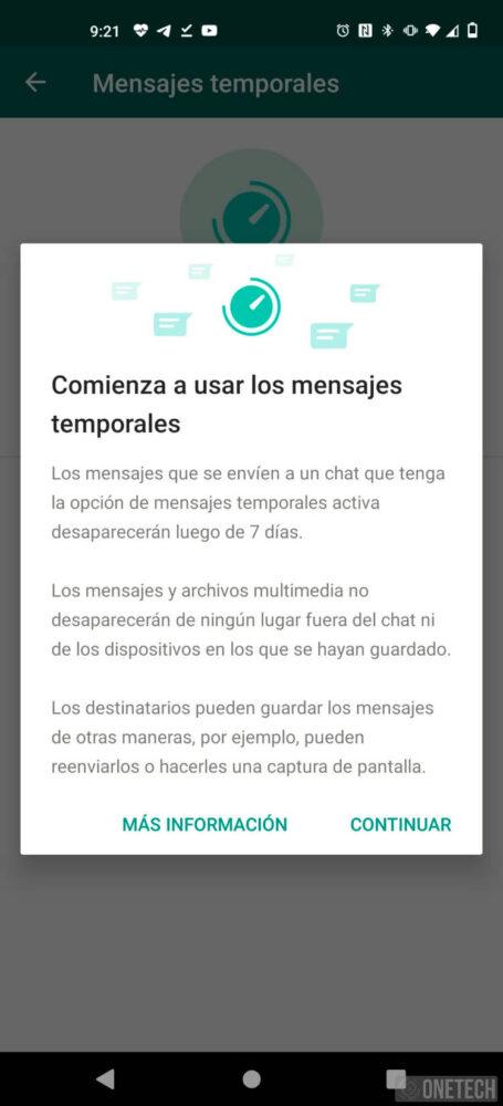 Los mensajes temporales ya están en la beta de WhatsApp 2