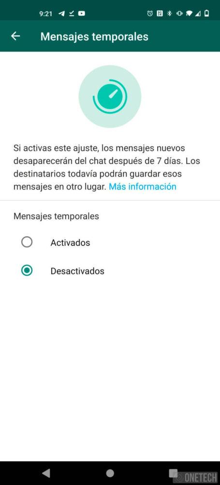 Los mensajes temporales ya están en la beta de WhatsApp 3