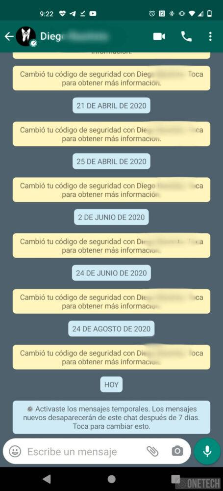 Los mensajes temporales ya están en la beta de WhatsApp 5
