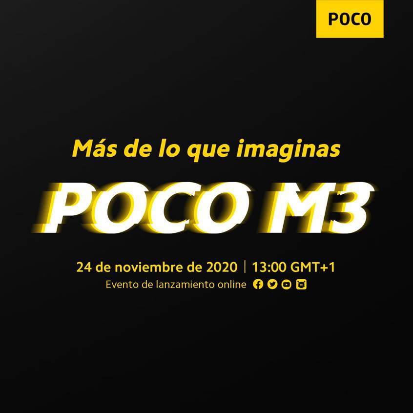 Poco anuncia un evento para presentar el nuevo POCO M3