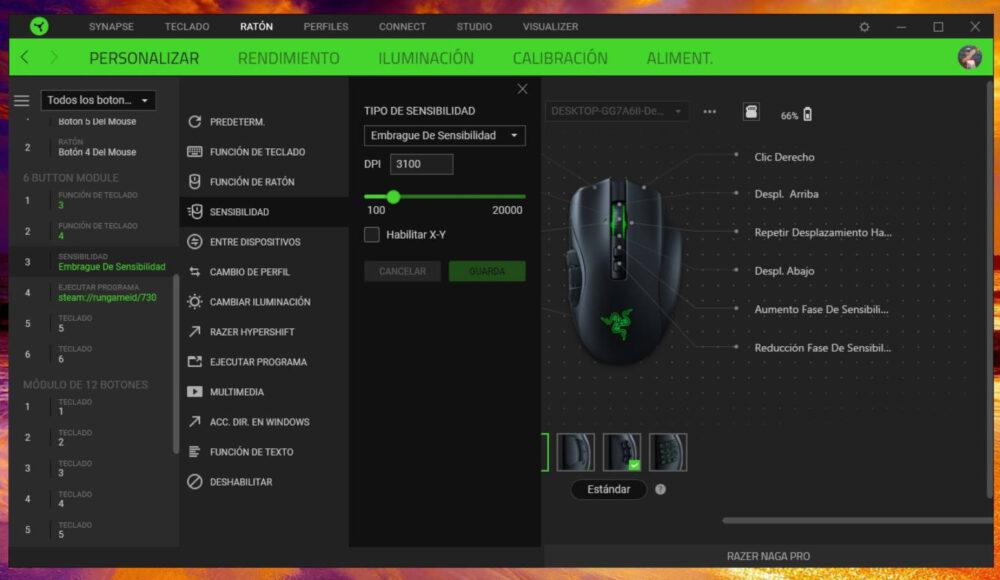 Razer Naga Pro, experiencia con un ratón modular - Análisis 12