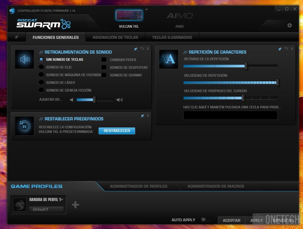 Análisis del Roccat Vulcan TKL, un teclado gamer compacto 1