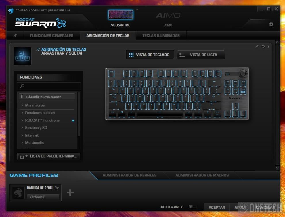 Análisis del Roccat Vulcan TKL, un teclado gamer compacto 2