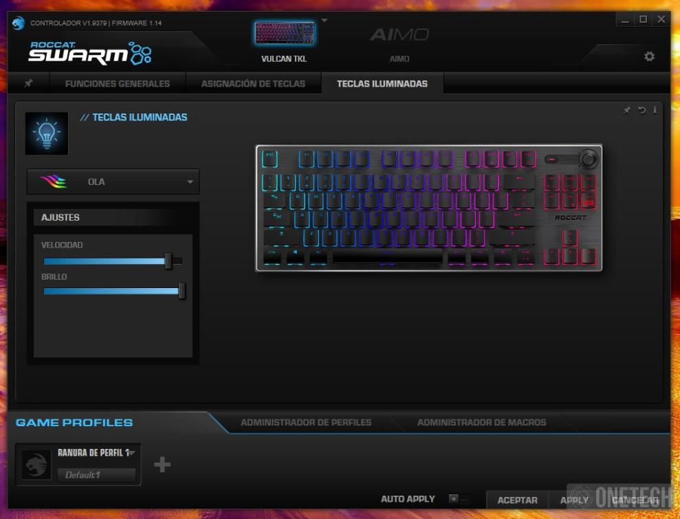 Análisis del Roccat Vulcan TKL, un teclado gamer compacto 3