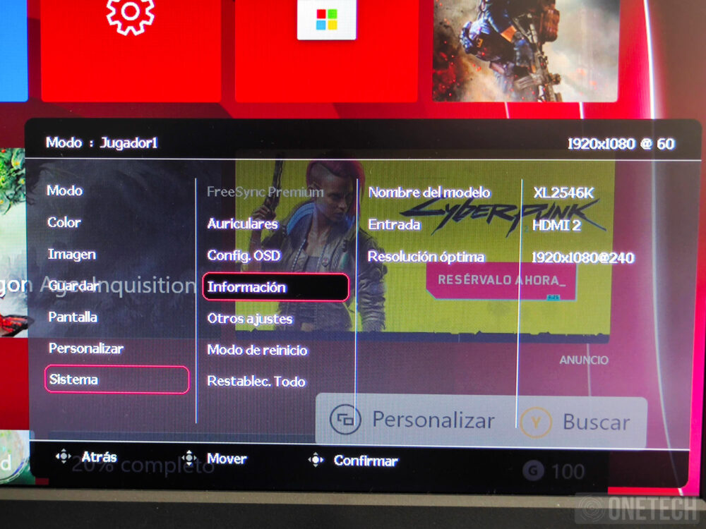 BenQ Zowie XL2546K, un monitor para profesionales de los eSports - Análisis 22