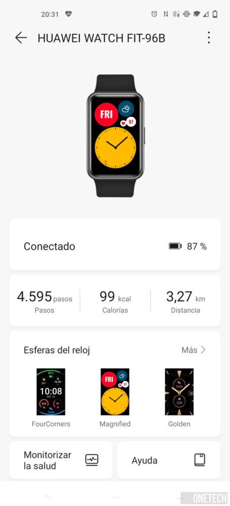 Huawei Watch Fit: un entrenador personal en tu muñeca - Análisis 2
