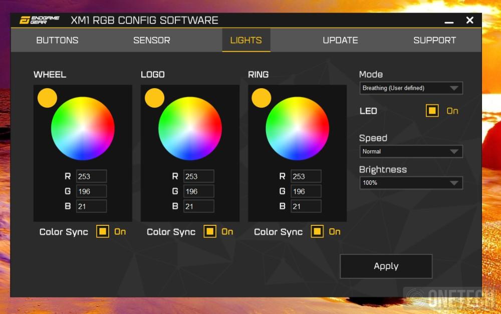 Endgame Gear XM1 RGB, un toque de color sin perder prestaciones - Análisis 2