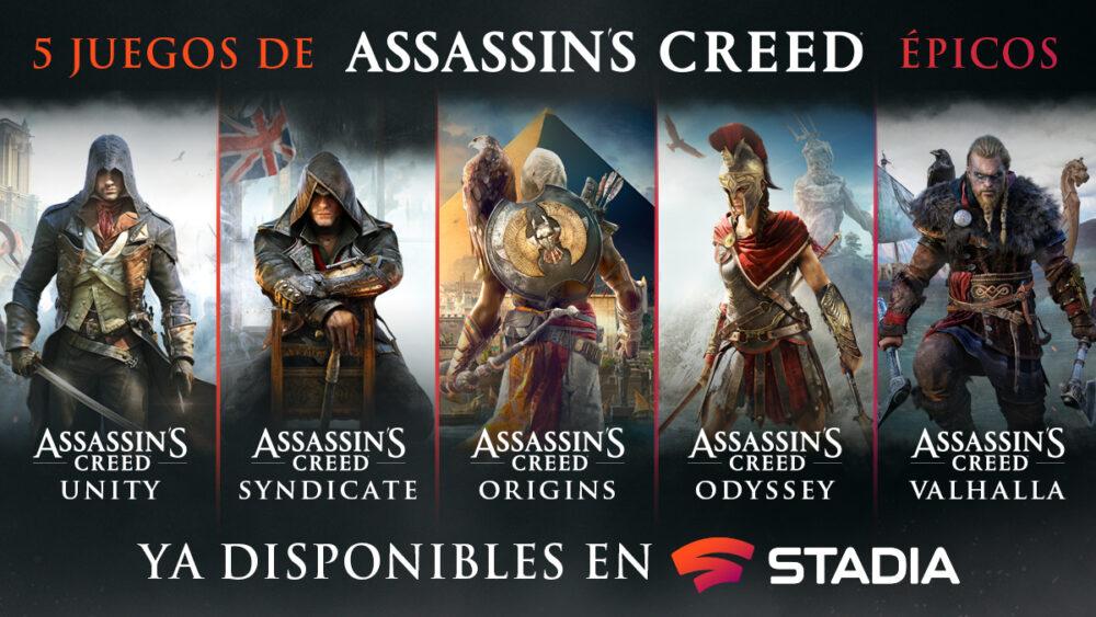 Ubisoft anuncia tres nuevos juegos para Stadia