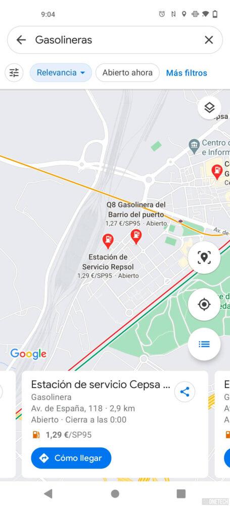 Ya puedes ver el precio de los combustibles de las gasolineras en España con Google Maps