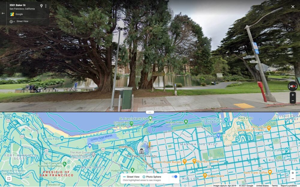 Google Maps añade interfaz dividida para Street View en Android 3