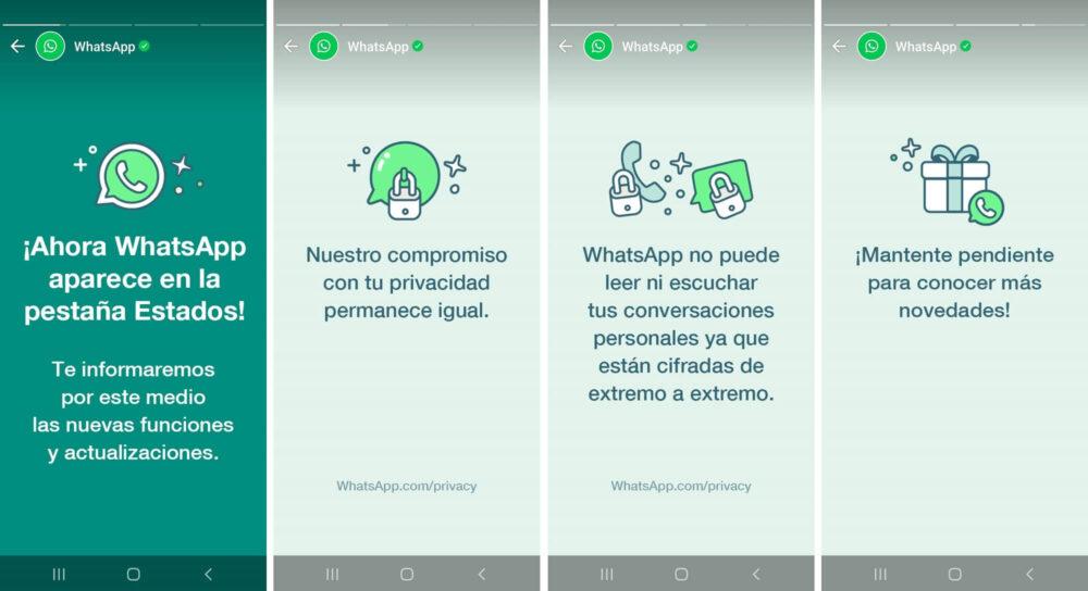 WhatsApp ahora se comunica a través de los Estados