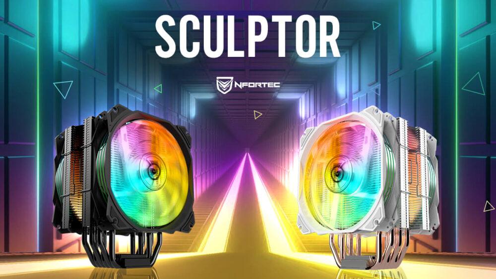 Doble lanzamiento de Nfortec: nuevo disipador Sculptor y ventilador Nebulus 1