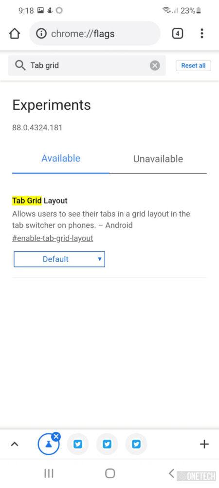 Chrome en Android amplia la disponibilidad de las cuadriculas de grupos de pestañas 5