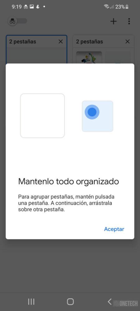 Chrome en Android amplia la disponibilidad de las cuadriculas de grupos de pestañas 2