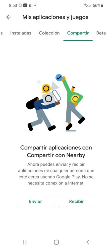 "Google Play añade ""Compartir con Nearby"" para compartir apps y juegos 3"