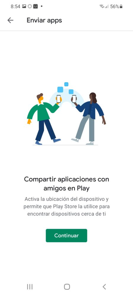 "Google Play añade ""Compartir con Nearby"" para compartir apps y juegos 2"