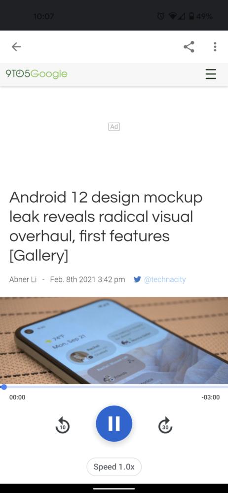 La app de Google para Android añade traducir y leer en voz alta en su nueva versión 2