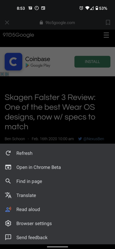 La app de Google para Android añade traducir y leer en voz alta en su nueva versión 1