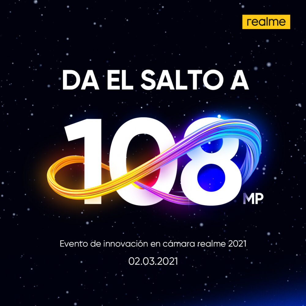 Realme anuncia un evento para conocer su apuesta por los smartphone con cámara de 108 MP