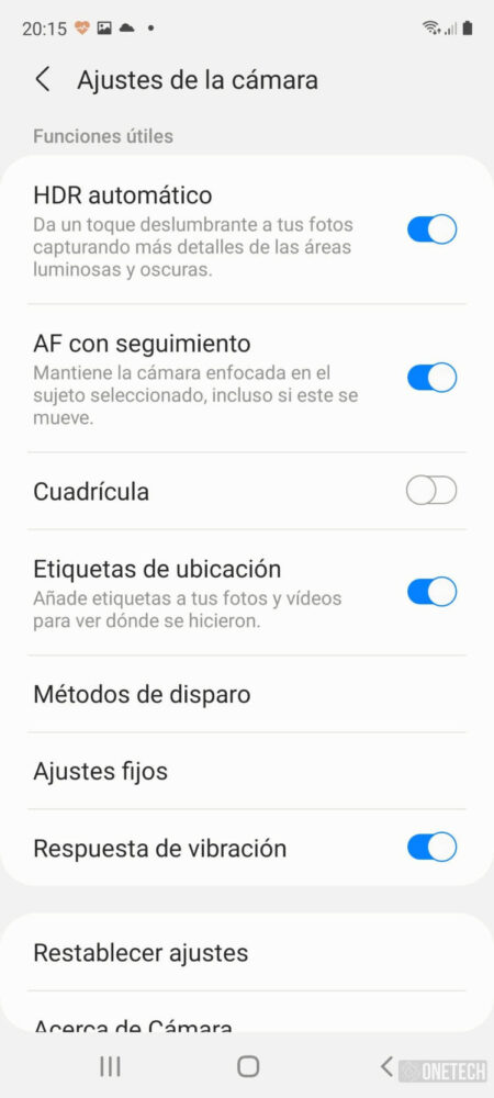Samsung Galaxy S20 FE 5G, buscando el equilibrio entre calidad y precio - Análisis 14