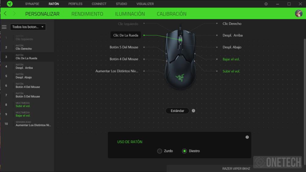 Razer Viper 8K Hz, el ratón más rápido pasa por nuestras manos - Análisis 10