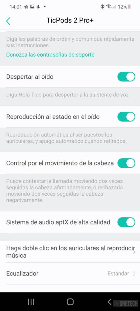 TicPods 2 Pro+, los auriculares que controlas con gestos - Análisis 21