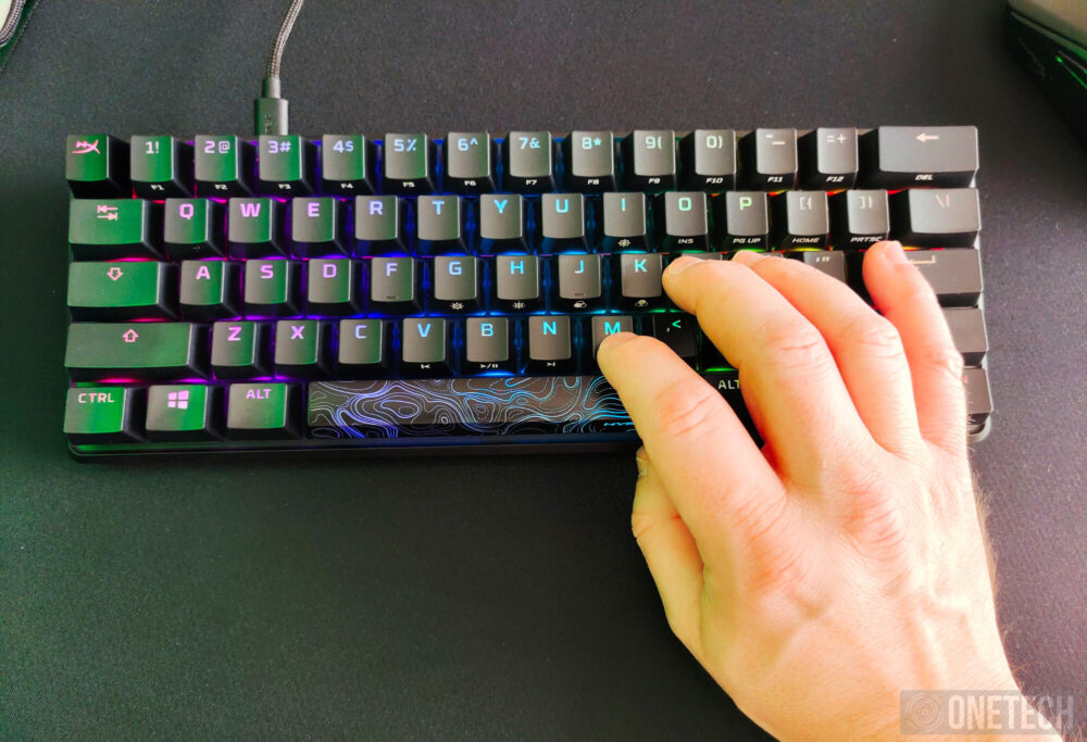 HyperX Alloy Origins 60, un teclado compacto para gamers - Análisis 11