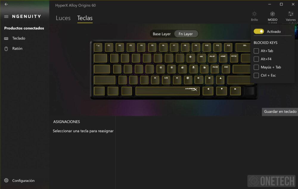HyperX Alloy Origins 60, un teclado compacto para gamers - Análisis 7