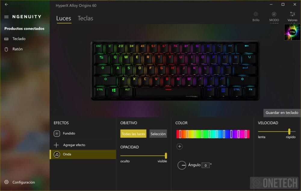 HyperX Alloy Origins 60, un teclado compacto para gamers - Análisis 10