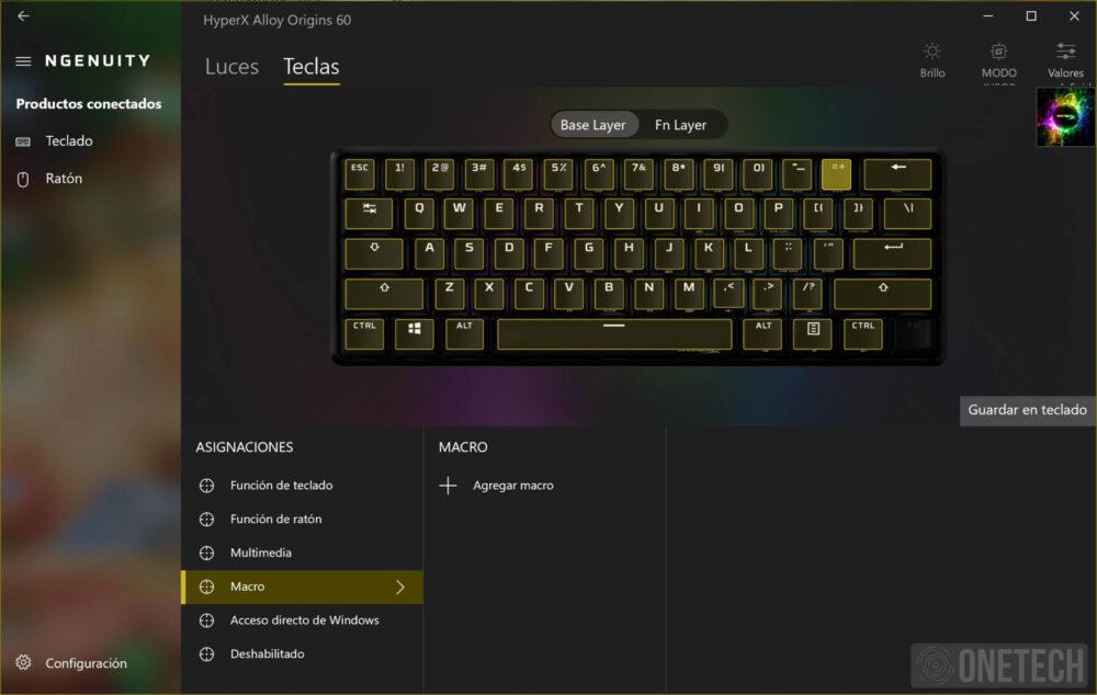 HyperX Alloy Origins 60, un teclado compacto para gamers - Análisis 9